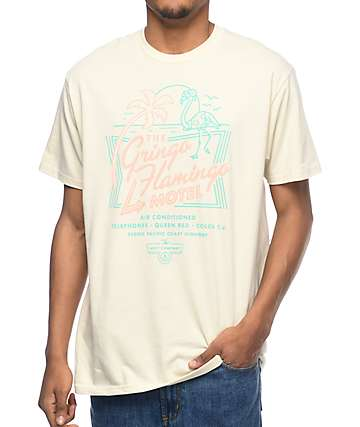 Neff Gringo Flamingo Off White T-Shirt