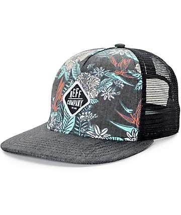 Neff Heidi Black Floral Trucker Hat