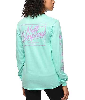 Neff Jenny camiseta de manga larga en color turquesa