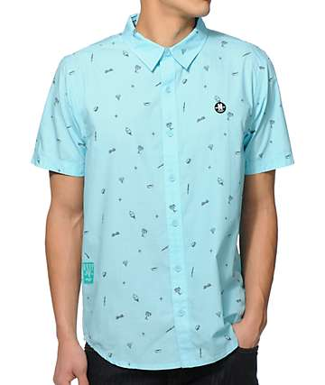 Neff Junk Food Riot Button Up Shirt