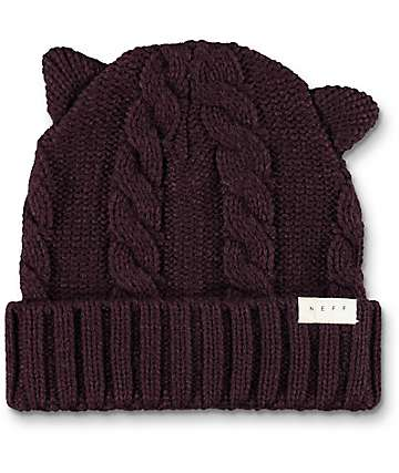 Neff Kat Port Fold Over Beanie