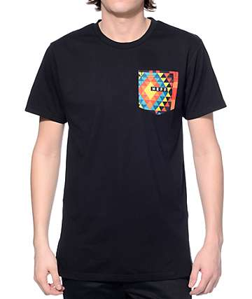 Neff Kato Black Tribal Pocket T-Shirt