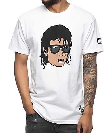 Neff King Michael Jackson White T-Shirt
