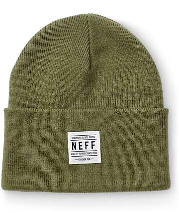 Neff Lawrence Olive Beanie