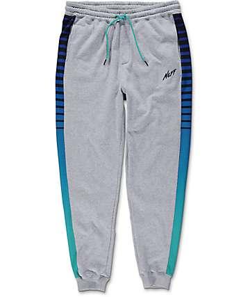Neff Lazer Swetz Grey & Blue Jogger Pants