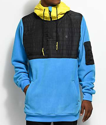 Neff Lift Blue, Yellow & Black Shredder Tech Fleece