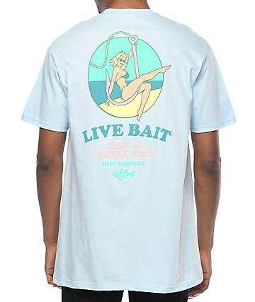 Neff Live Bait camiseta en azul claro