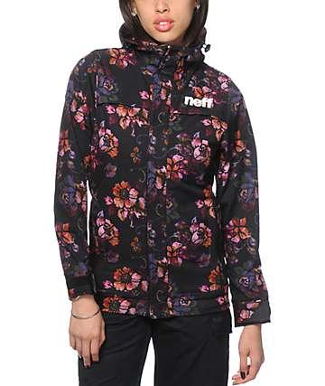 Neff Lush Floral Print 10K Softshell Snowboard Jacket