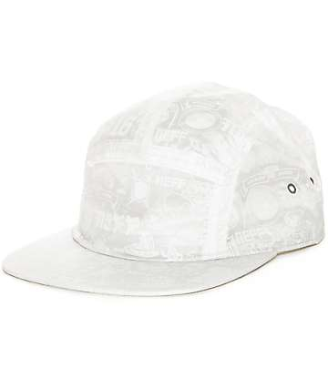 Neff Moisty White 5 Panel Hat