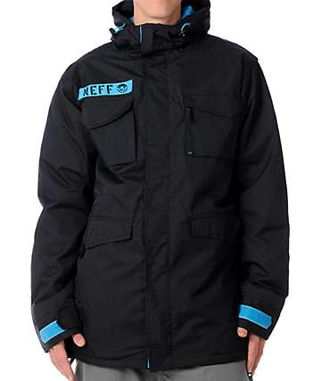 Neff N-65 10K Black Mens Snowboard Jacket