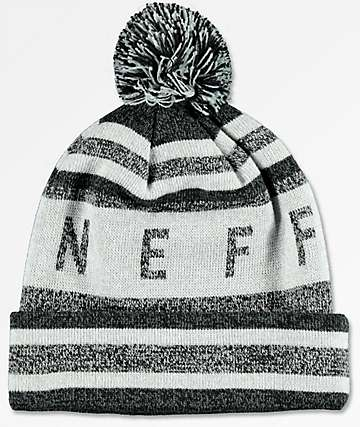Neff NAFC Black, Grey & Silver Pom Beanie