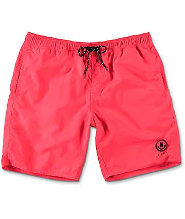 "Neff Neon Nylon 19"" board shorts en rosa"