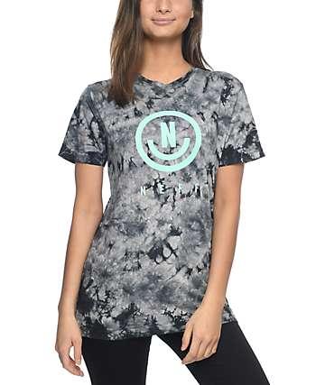 Neff Neu camiseta con efecto tie dye en negro