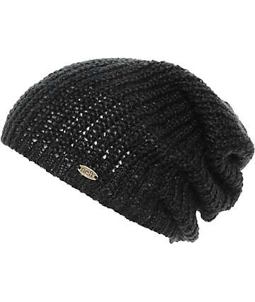 Neff Nolita Black Knit Slouch Beanie