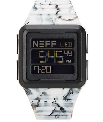 Neff Odyssey reloj en blanco y negro