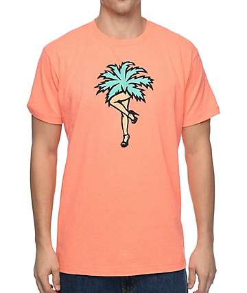 Neff Palm Legs Neon Peach T-Shirt