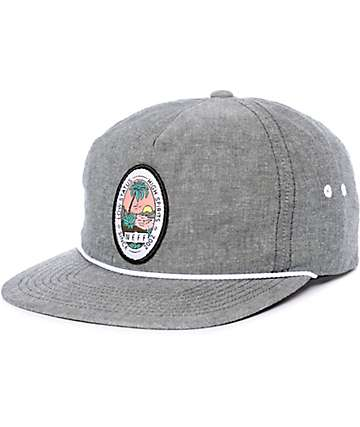 Neff Palm Palm Heather Black Snapback Hat