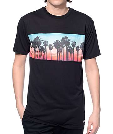 Neff Palm Stripe Black T-Shirt
