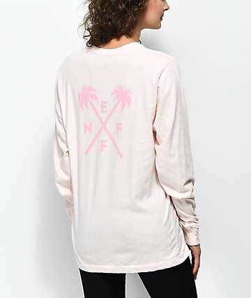 Neff Palmcross Peach Long Sleeve T-Shirt