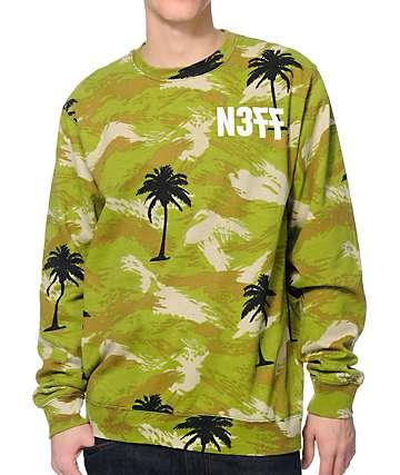 Neff Palmo Camo Green Crewneck Sweatshirt