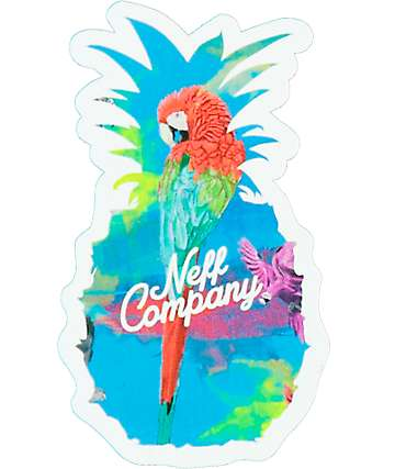 Neff Pineapple Parrot Sticker