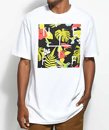 Neff Plus Box Floral White T-Shirt