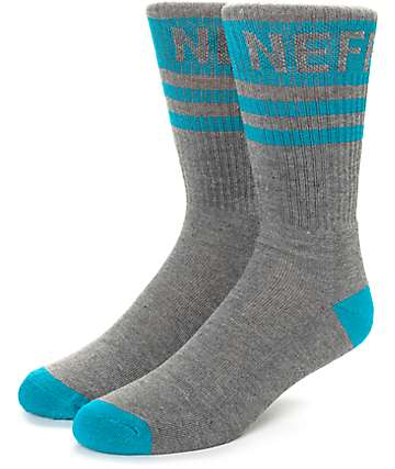 Neff Promo Grey & Mint Crew Socks