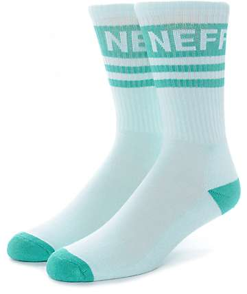 Neff Promo Mint & Teal Crew Socks