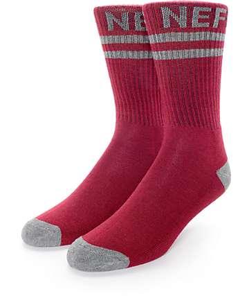 Neff Promo calcetines en granate
