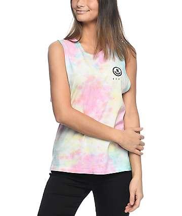 Neff Radicool camiseta con sisas recortadas con efecto tie dye