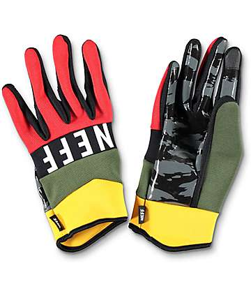 Neff Ripper Rasta Pipe guantes de snowboard