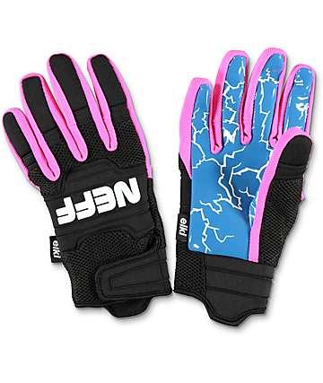 Neff Rover Eiki Pipe guantes de snowboard en rosa, azul y negro