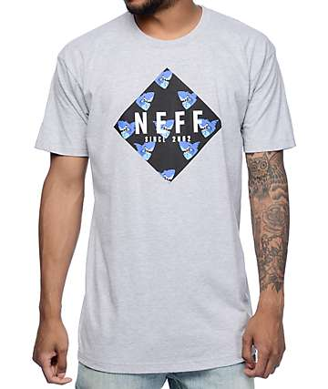Neff Shark Tooth Heather Grey T-Shirt