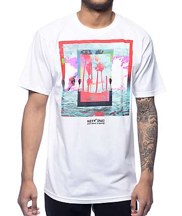 Neff Skirt Palm Tree White T-Shirt
