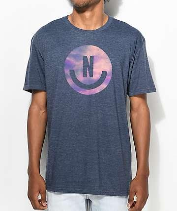 Neff Smiley Logo camiseta en azul marino