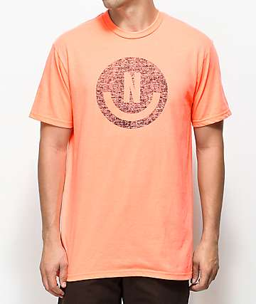 Neff Smiley camiseta coral