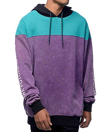 Neff Spacetime Purple, Teal & Black Hoodie
