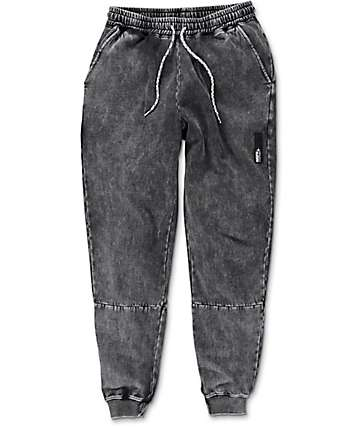 Neff Spacetime Swetz Black Wash Jogger Pants