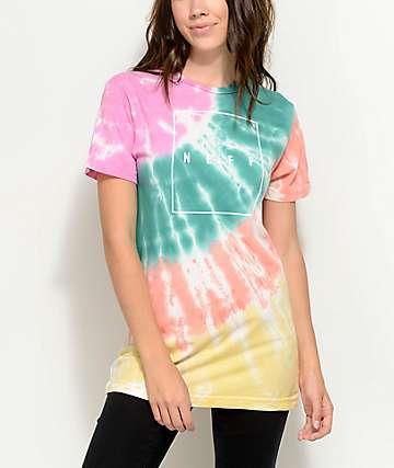 Neff Spectrum camiseta con efecto tie dye