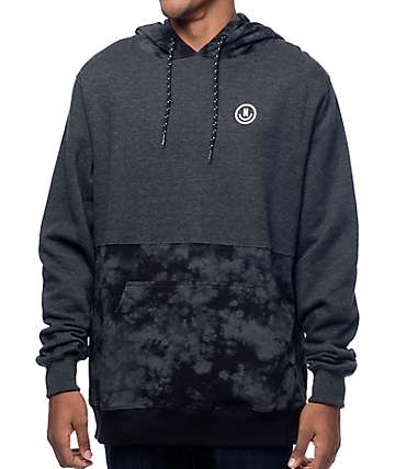 Neff Split Crystal Charcoal & Black Hoodie