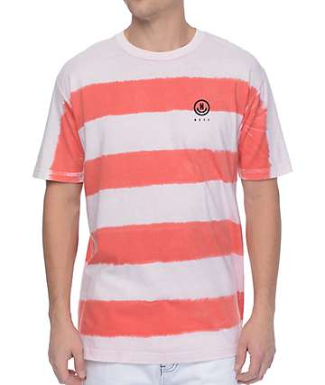 Neff Spugetti Red & White Stripe Washed T-Shirt
