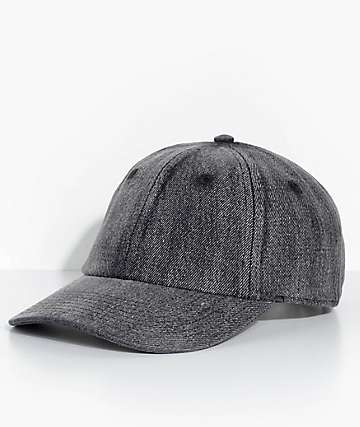 Neff Step Dad Black Denim Strapback Hat