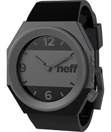 Neff Stripe Black & Grey Analog Watch