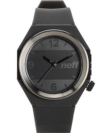 Neff Stripe reloj en gunmetal y negro