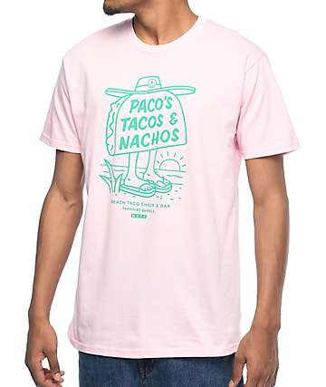Neff Tacos & Nachos Pink T-Shirt