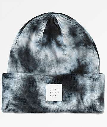 Neff Taylor Mineral Wash Black & Grey Beanie