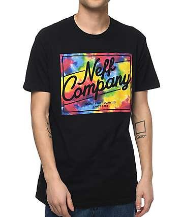 Neff Tie Dye Deluxe Black T-Shirt
