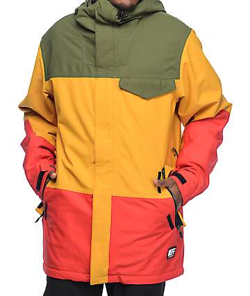 Neff Trifecta 10k Rasta Snowboard Jacket
