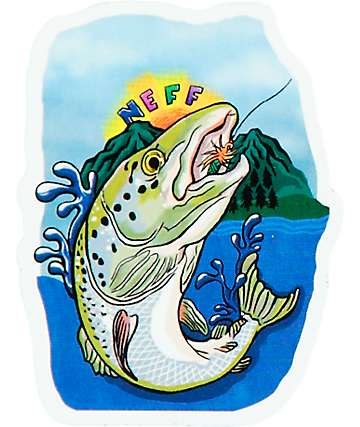 Neff Trout Sticker