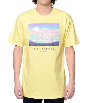 Neff Wilderness Light Yellow T-Shirt
